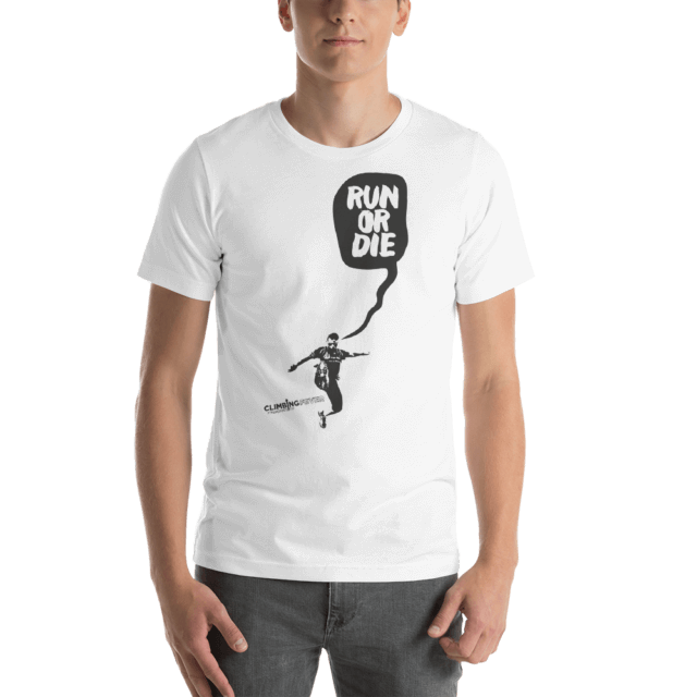 RUN OR DIE - Camiseta manga corta unisex (Blanco)