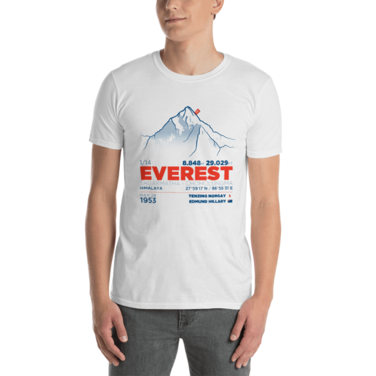 EVEREST – Camiseta manga corta unisex (Blanco)
